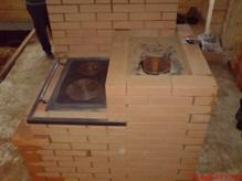Кирпичная печь с плитой для бани своими руками8